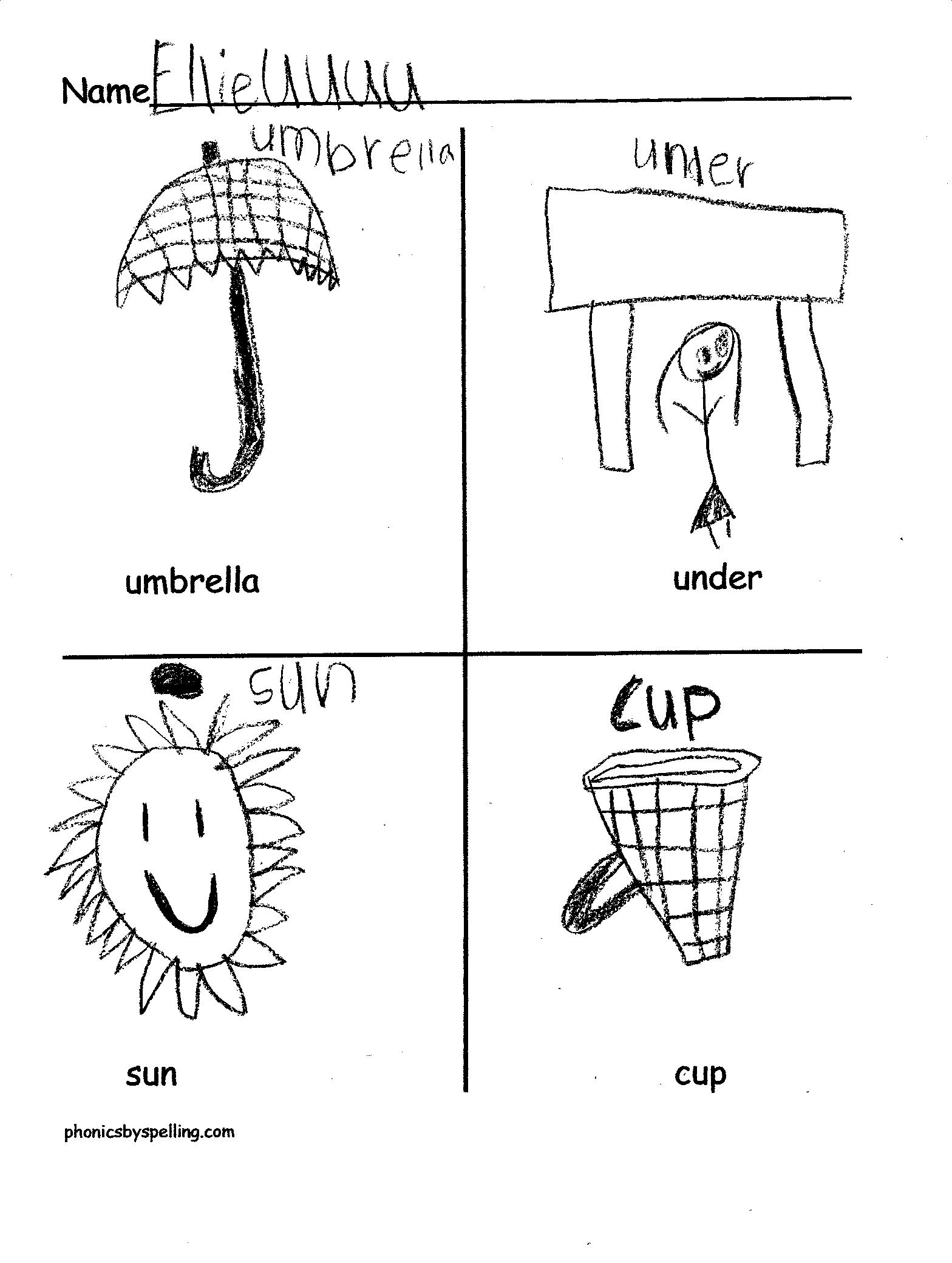 Worksheet Letter U Words For Preschool short vowel u phonics by spellings blog have