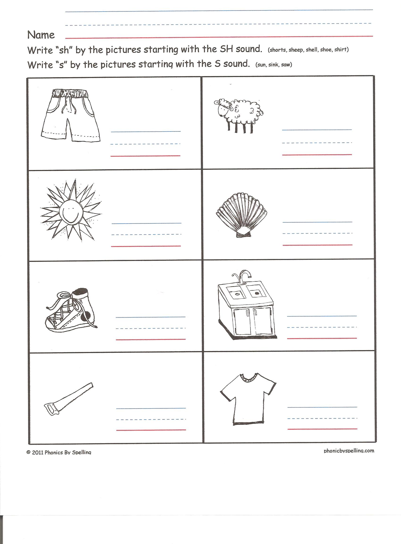 Uncategorized Sh Worksheets or dont use phonics by spellings blog worksheet for sh 001