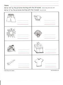 worksheet for SH 001
